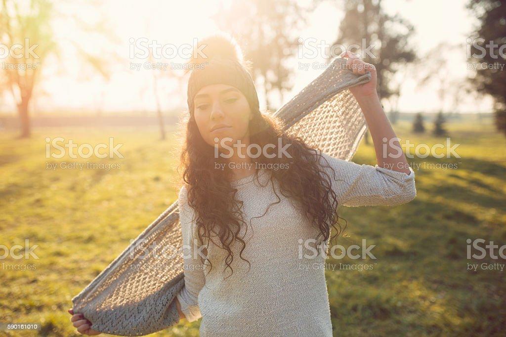 Dancing in ecstasy stock photo