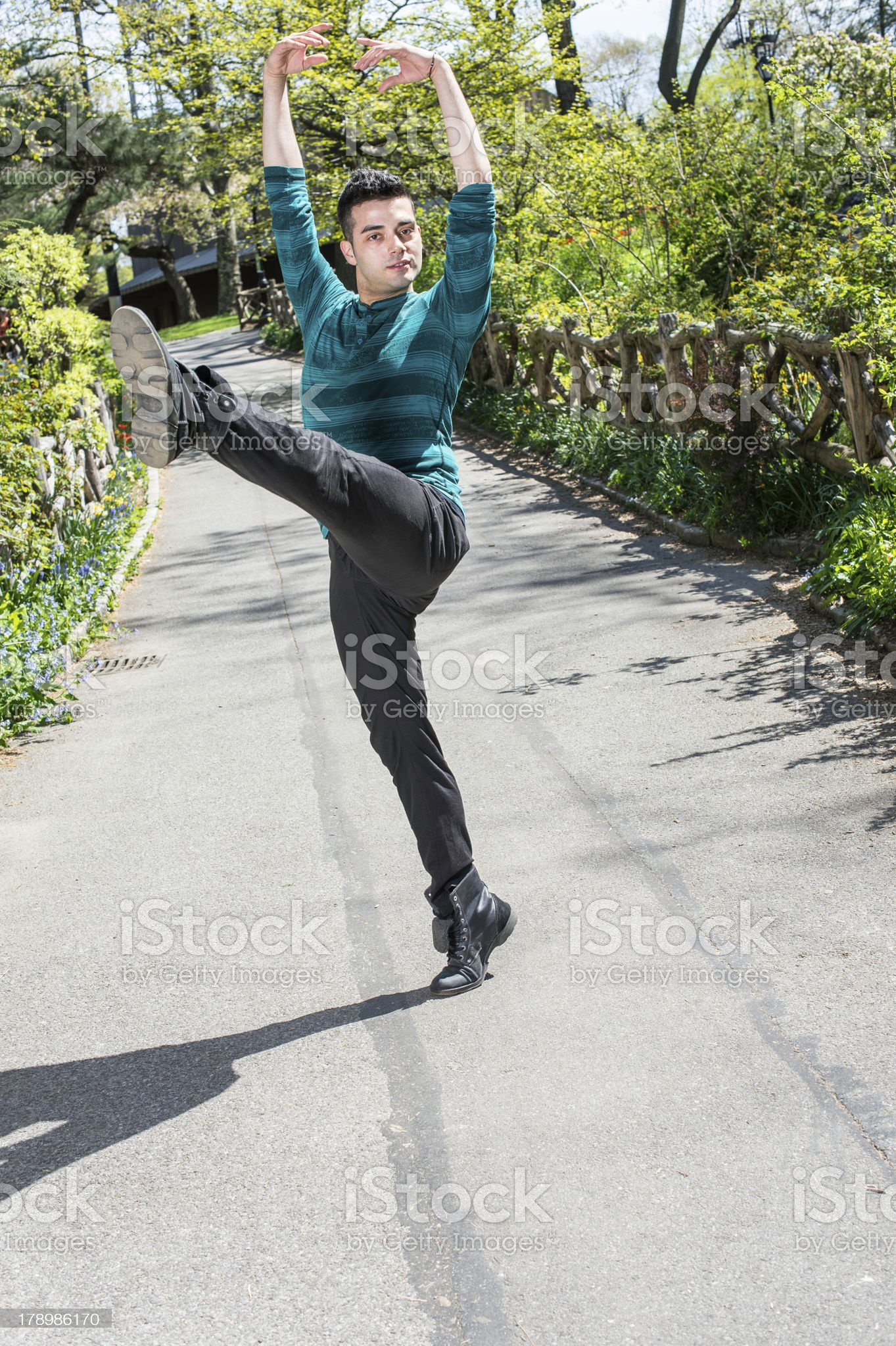 Dancing in Park royalty-free stock photo