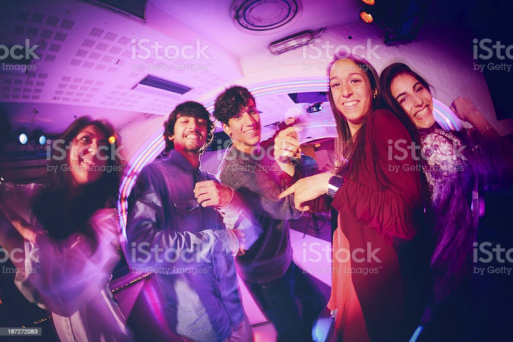 Dancing in the Club royalty-free stock photo
