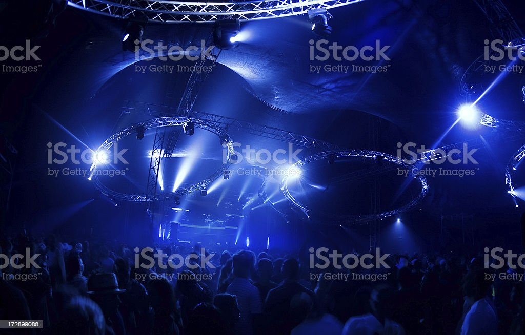 dancing in the disco lights royalty-free stock photo