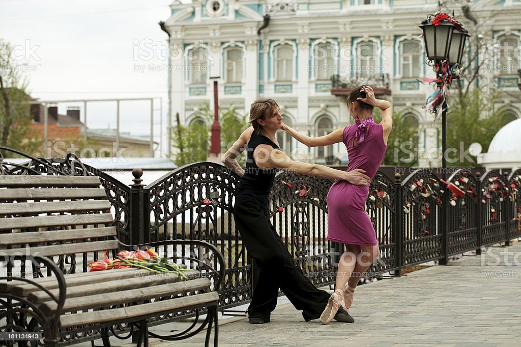 Dancing in the streets royalty-free stock photo
