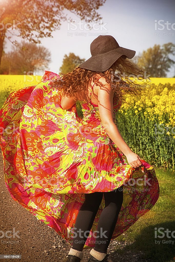 Dancing in the Summer stock photo