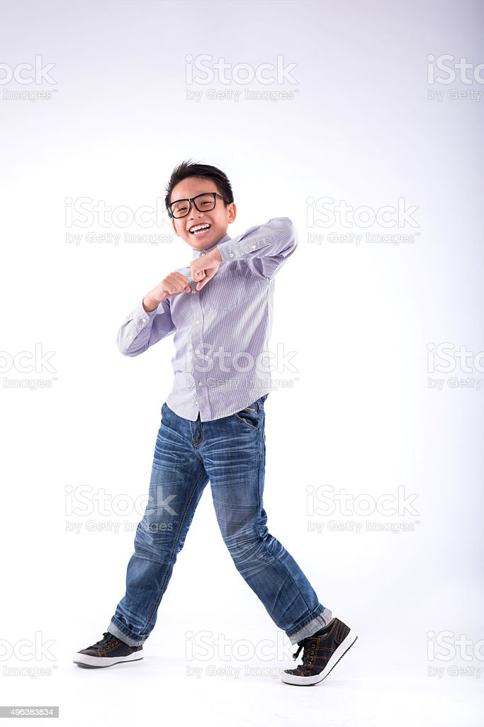 Dancing kid stock photo