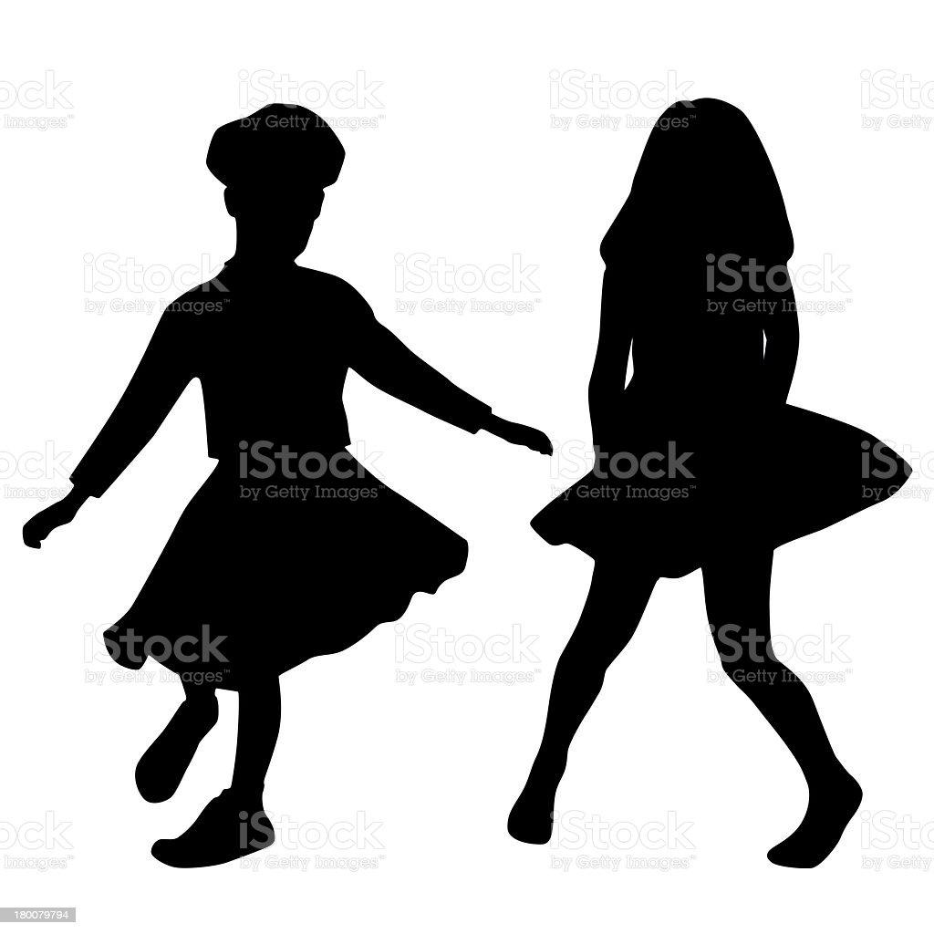 Dancing kids royalty-free stock photo