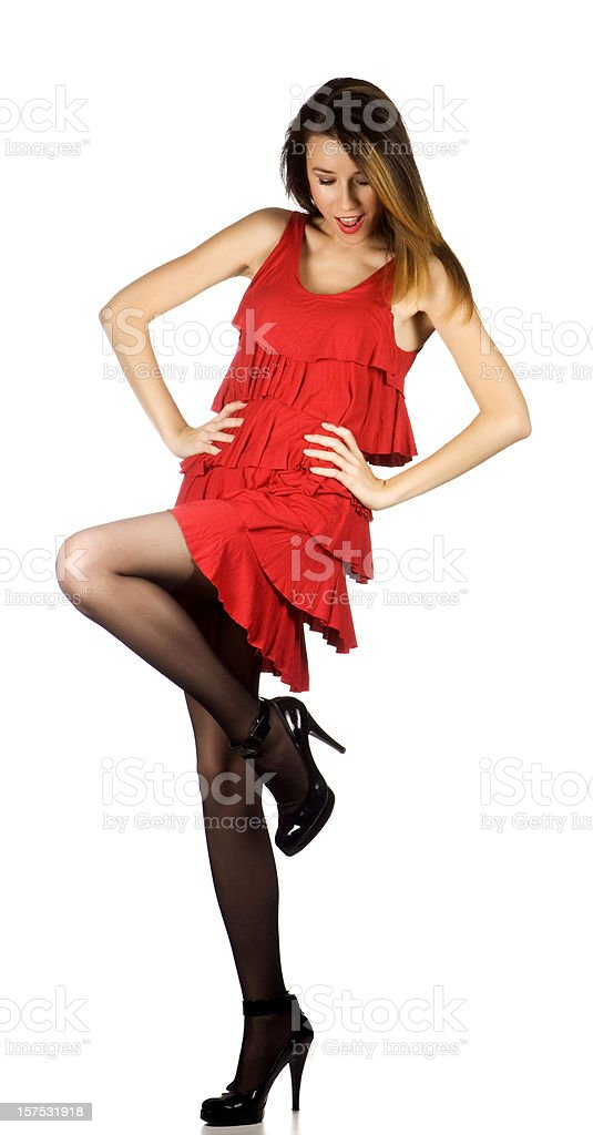 Dancing Lady royalty-free stock photo