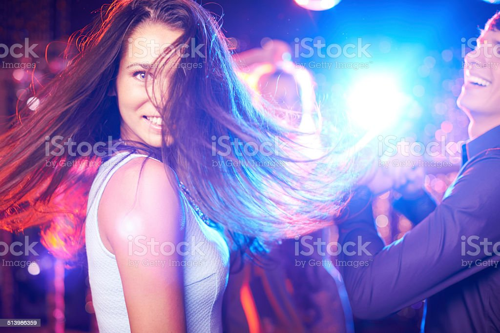 Dancing lady stock photo