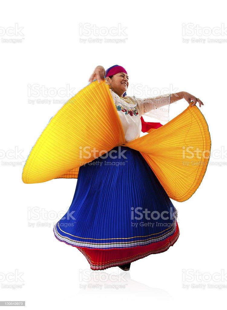 Dancing Latin Gypsy woman royalty-free stock photo