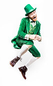 Dancing Leprechaun Man on Saint Patricks Day