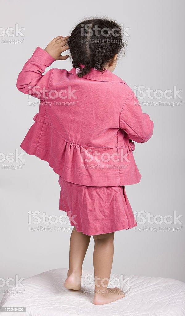 Dancing Little Girl royalty-free stock photo