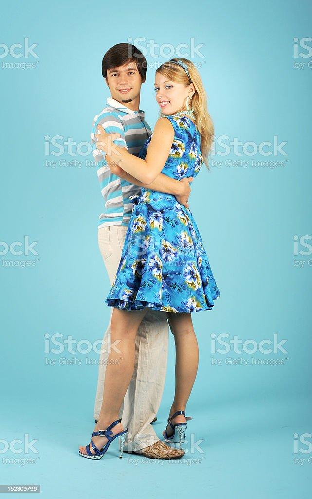 Danse de couple amoureux photo libre de droits