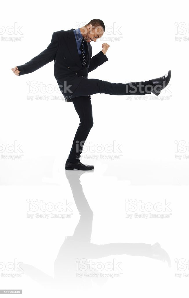 Dancing man stock photo