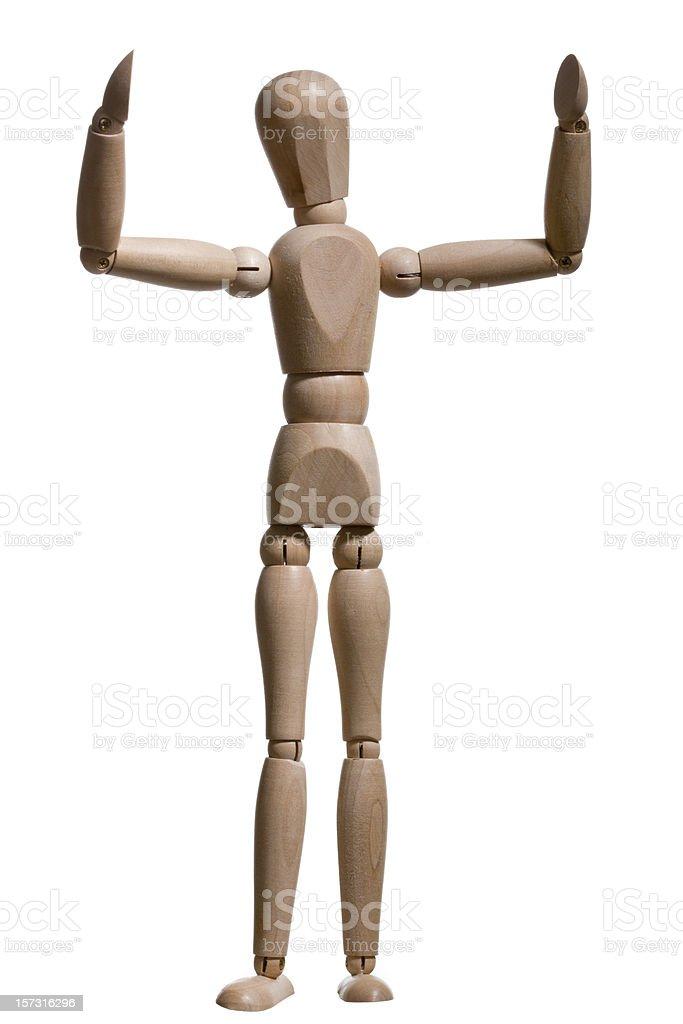 Dancing man series stock photo