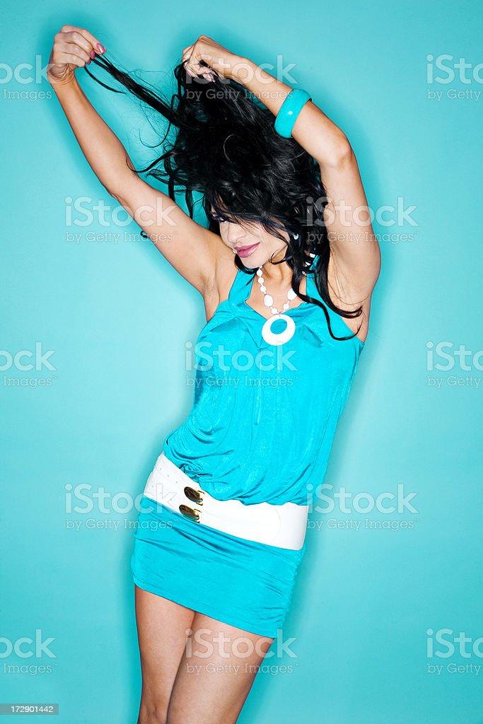 Dancing Model stock photo