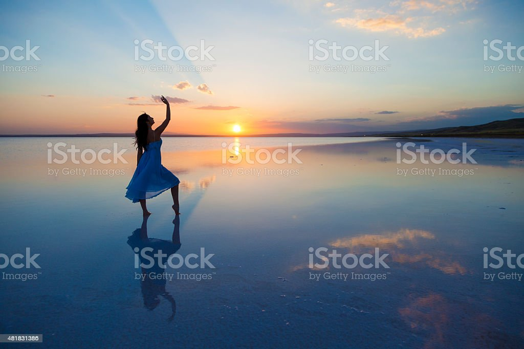 Dancing on water stock photo