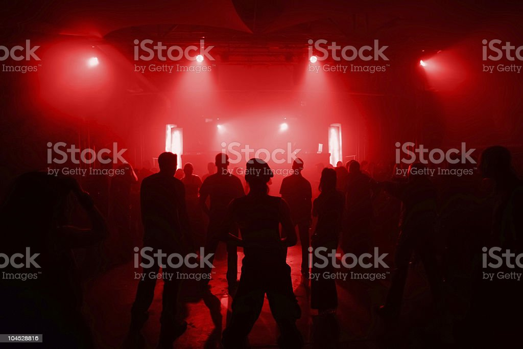 Dancing people in an unde royalty-free stock photo