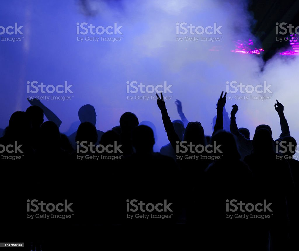 Dancing people in night club royalty-free stock photo