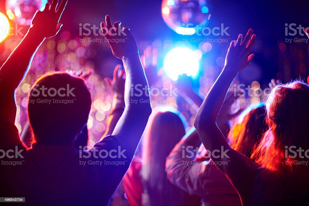 Dancing people stock photo