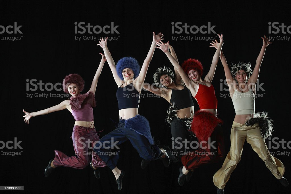 dancing royalty-free stock photo