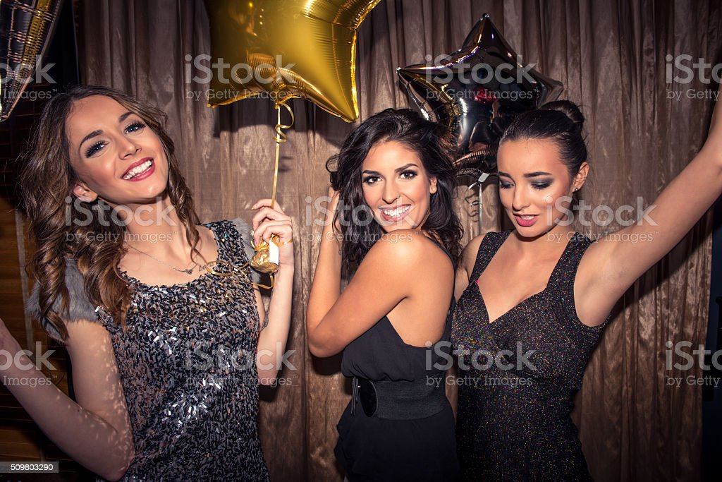 Dancing queens stock photo