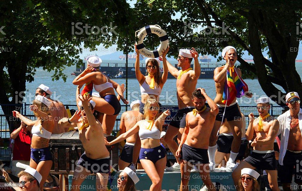 Dancing Sailors royalty-free stock photo