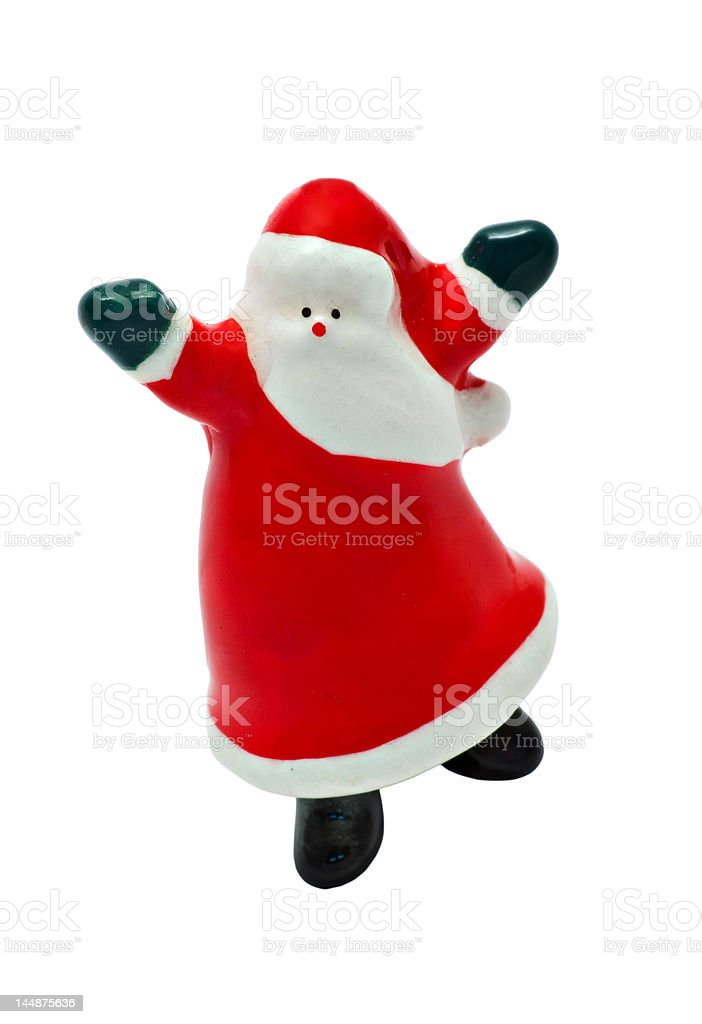 Dancing Santa Claus - Isolated with Clipping Path stock photo
