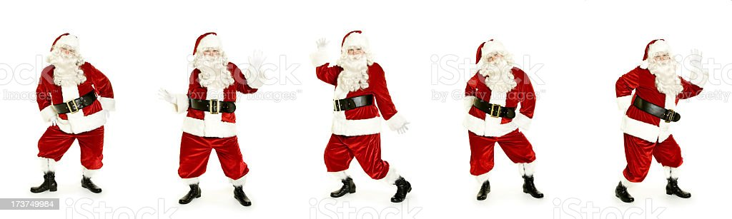 Dancing Santa isolated on white royalty-free stock photo