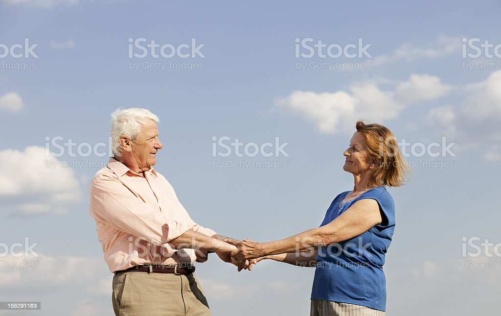 dancing senior couple royalty-free stock photo