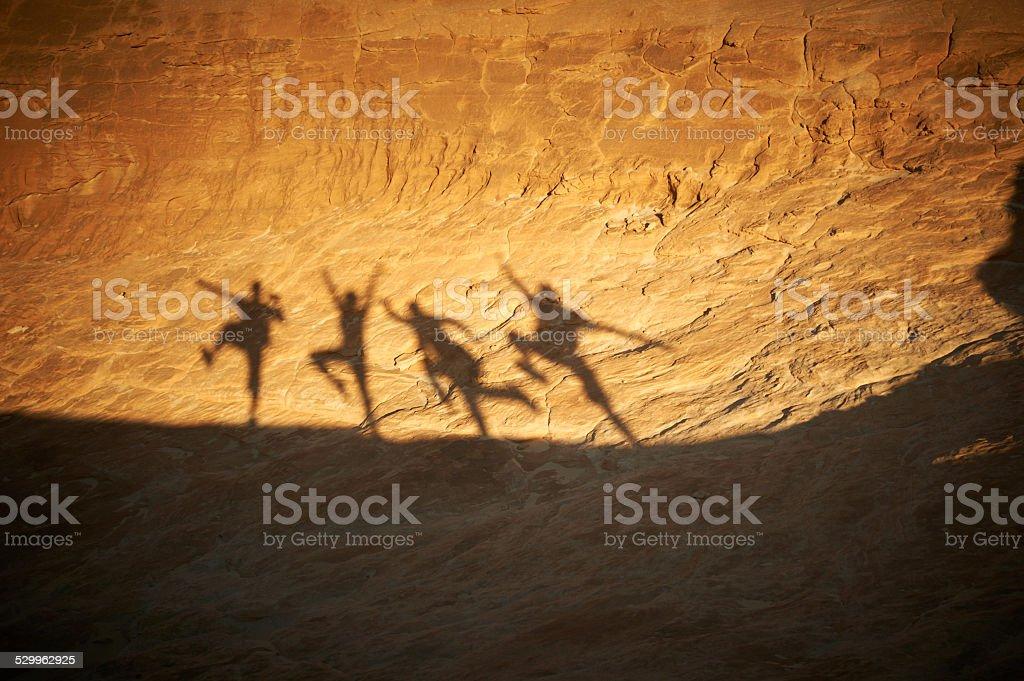 dancing shadows stock photo