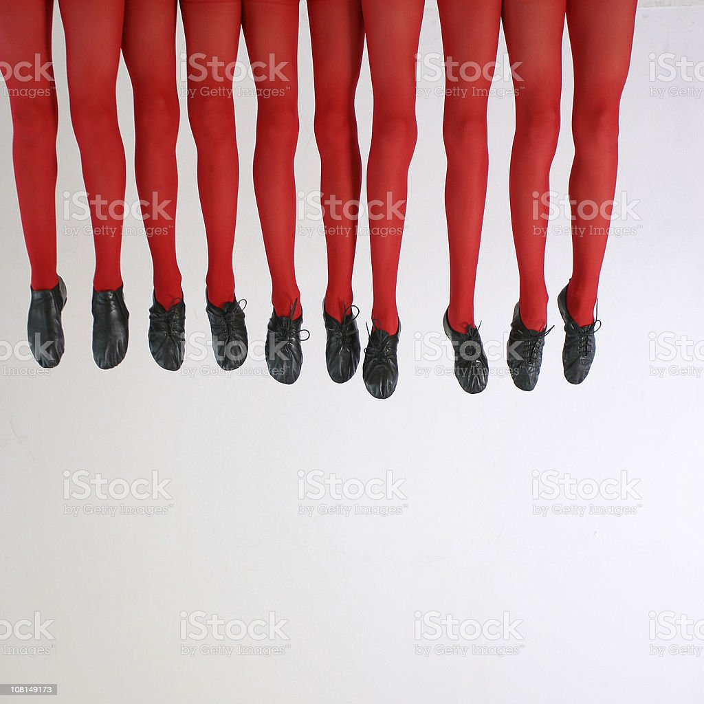 Dancing shoes and red legs royalty-free stock photo
