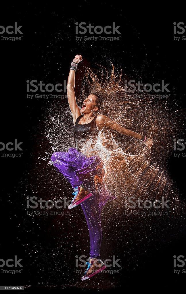 Dancing splash. stock photo