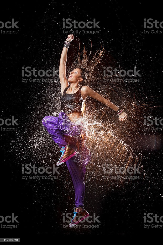 Dancing splash. stock photo