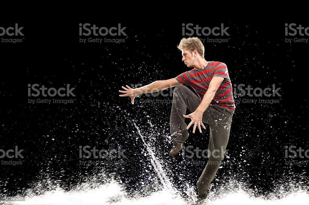 dancing splashes stock photo