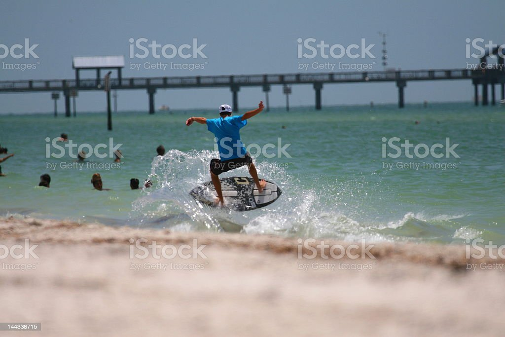 dancing surfer stock photo
