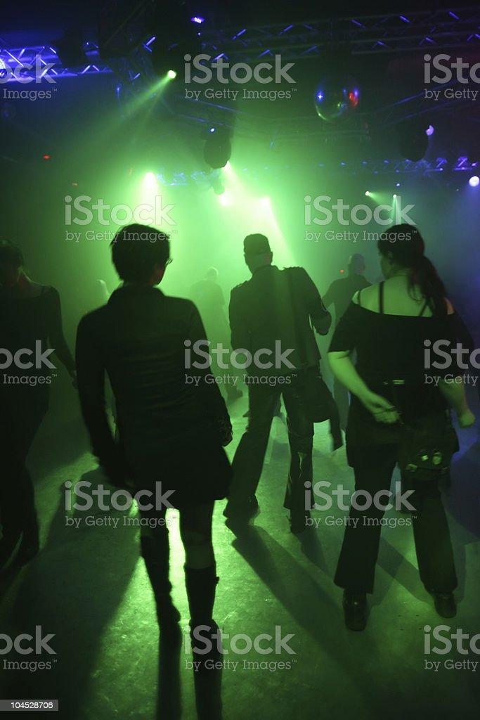 Dancing teenagers royalty-free stock photo