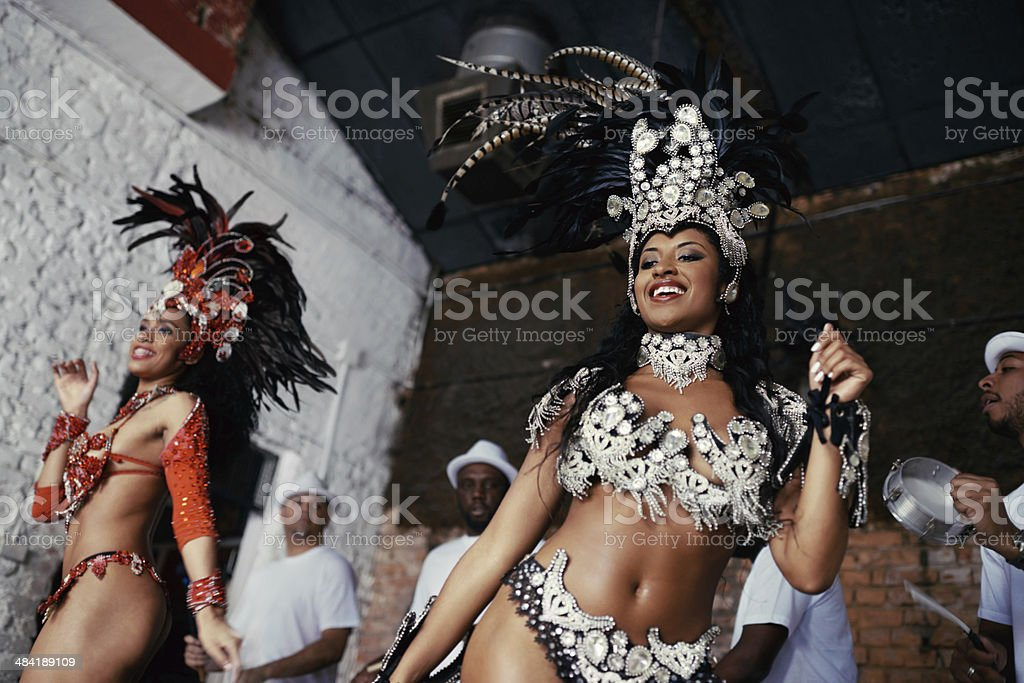 Dancing to the beat of Brazil stock photo