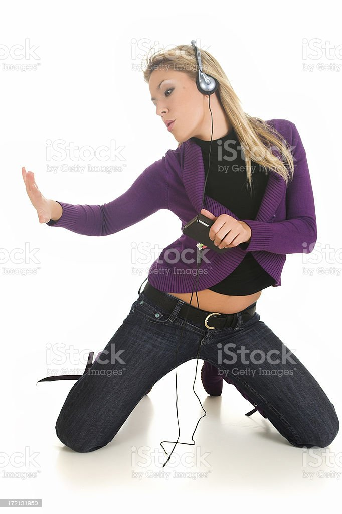 Dancing to the beat royalty-free stock photo