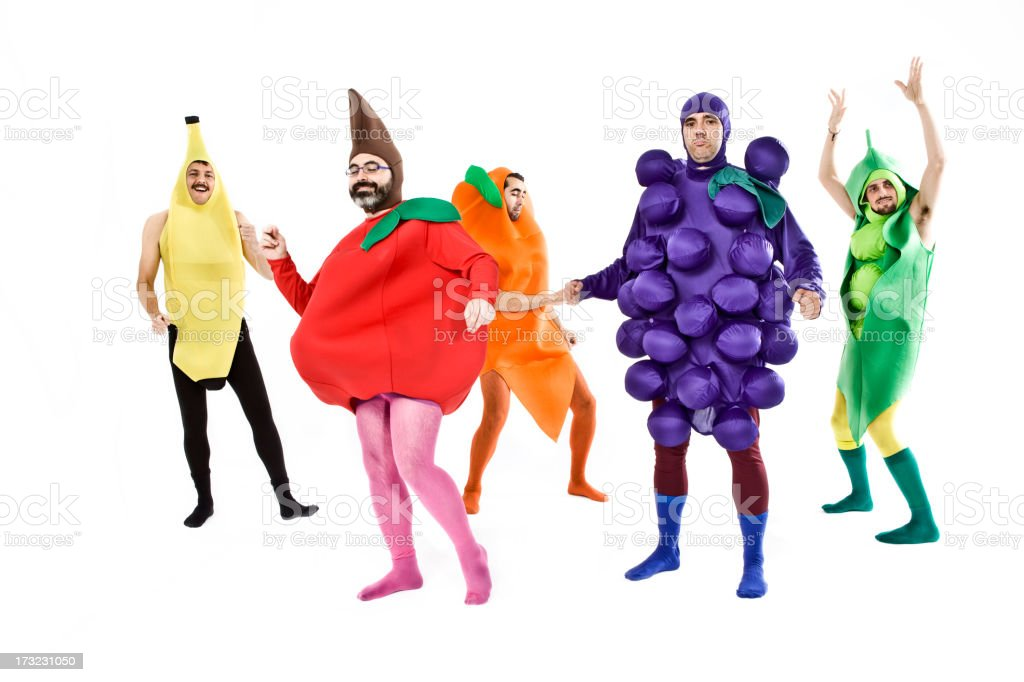 Dancing vegetables royalty-free stock photo