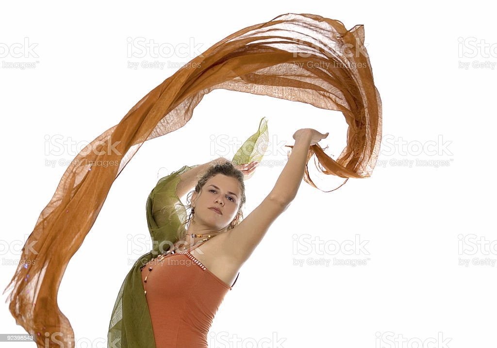 Dancing with color royalty-free stock photo
