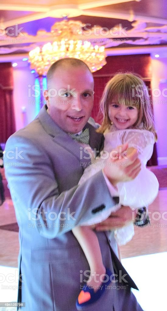 Dancing with daddy stock photo