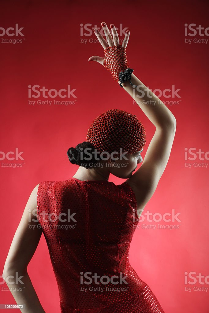 Dancing woman royalty-free stock photo