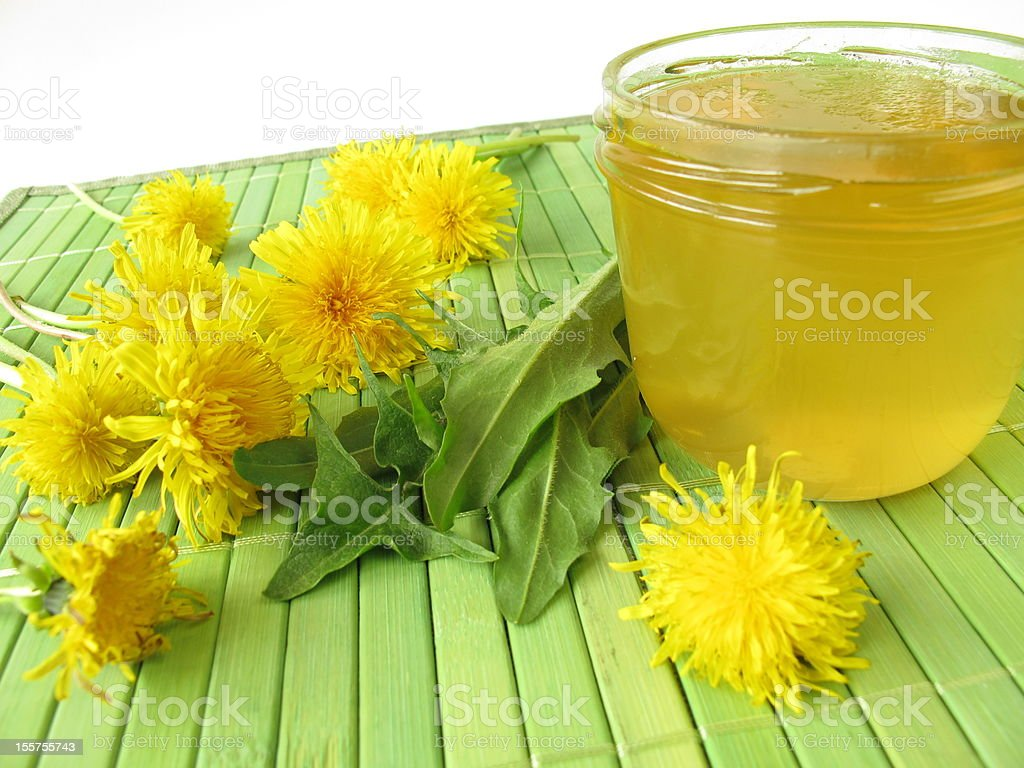 Dandelion flower jam royalty-free stock photo