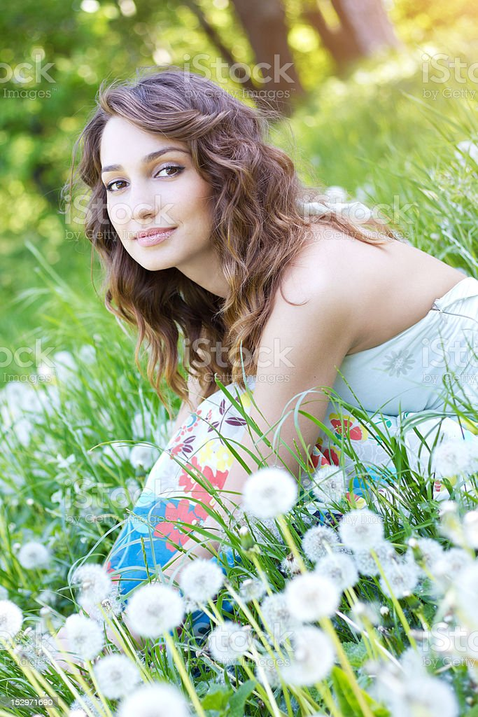 Dandelion princess royalty-free stock photo