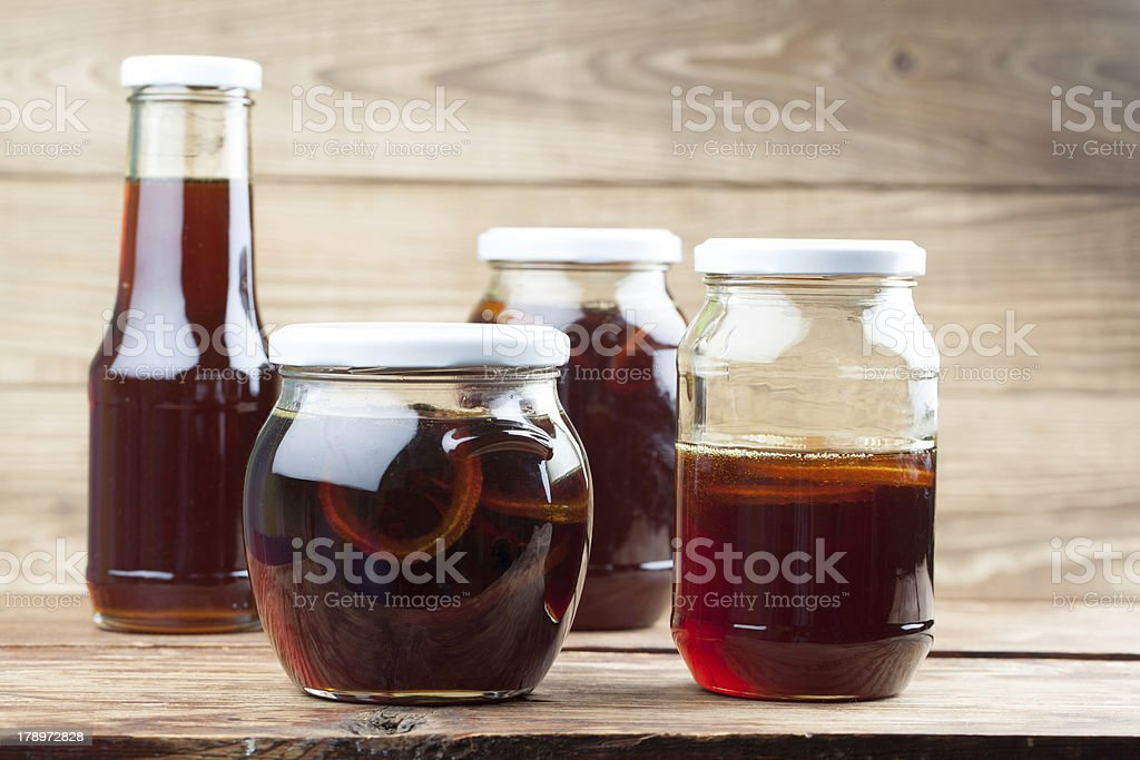 Dandelion syrup royalty-free stock photo