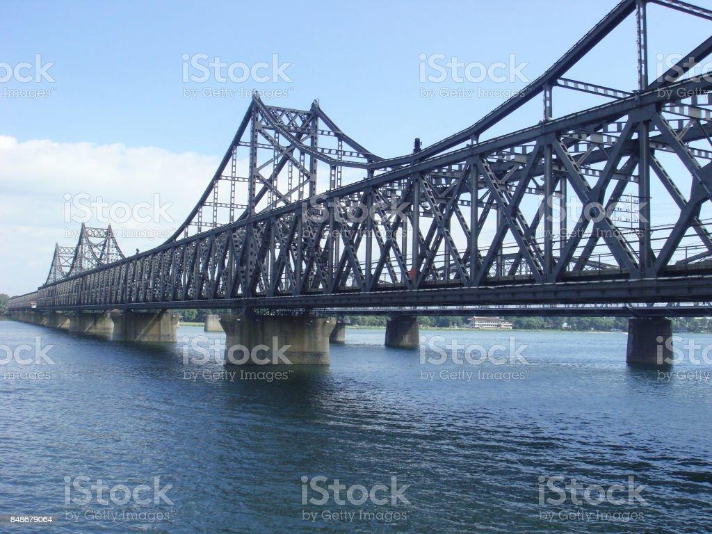 Dan-dong Bridge, china stock photo
