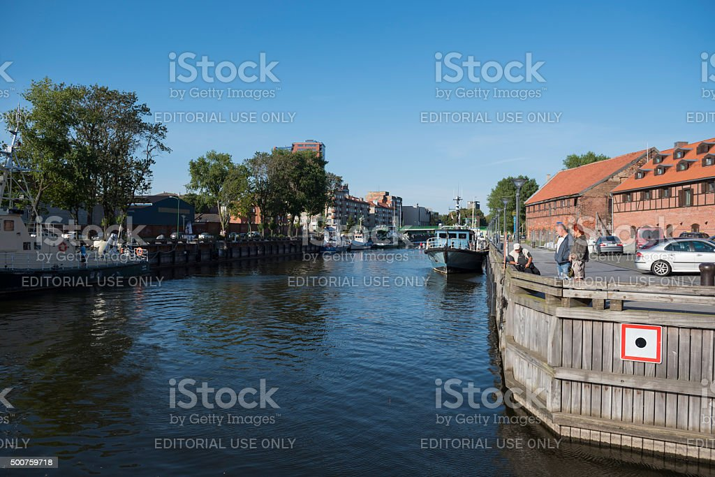 Dane River in Klaipeda, Lithuania stock photo