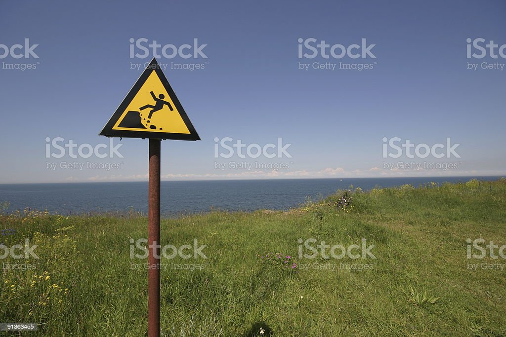 Danger abyss royalty-free stock photo