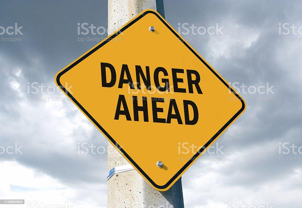 Danger Ahead royalty-free stock photo