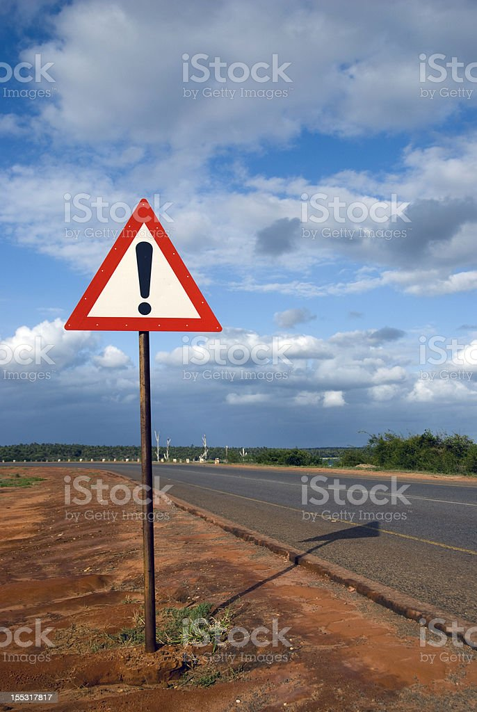 Danger ahead stock photo