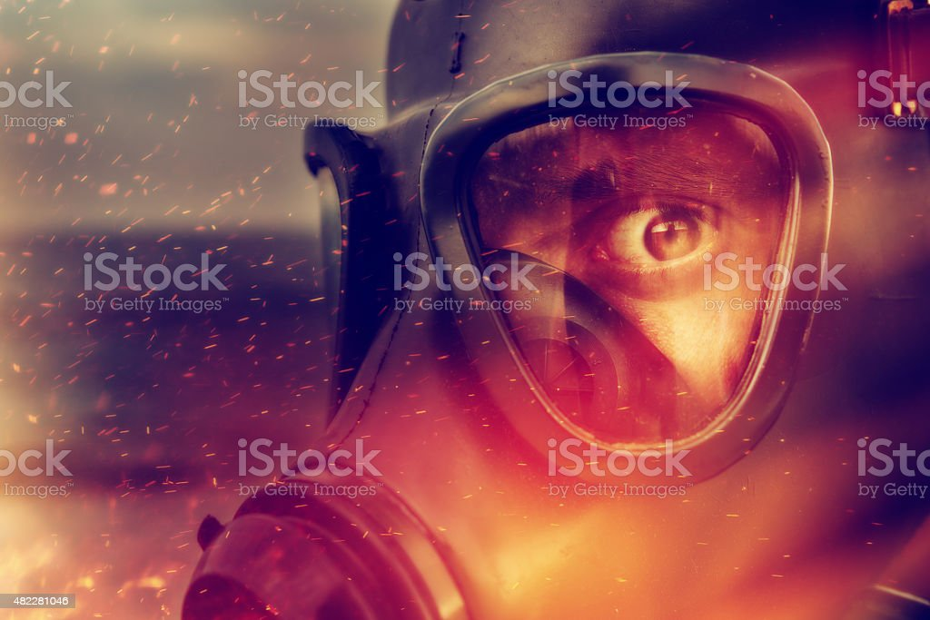 danger and fire stock photo