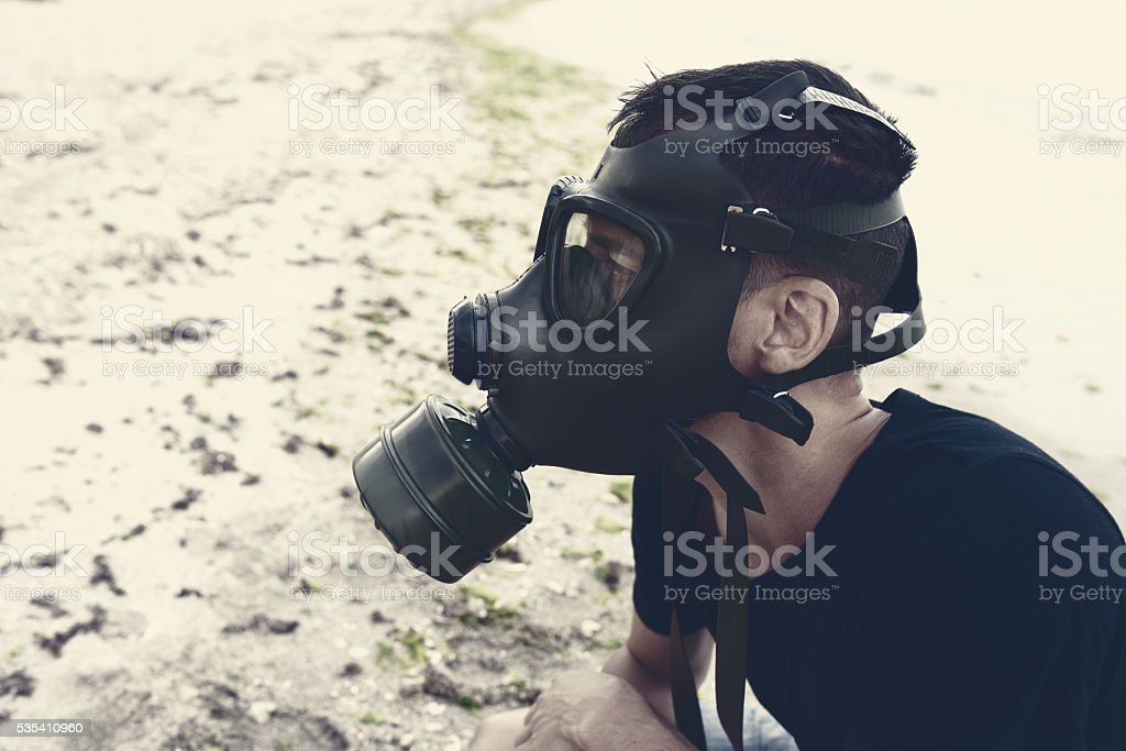 danger and nature pollution stock photo